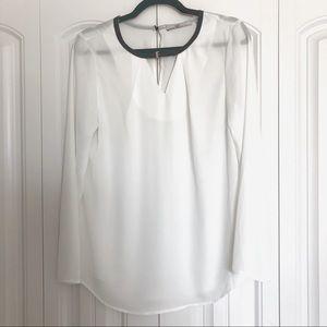 Dex Sheer Long Sleeve Blouse